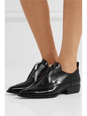 Chloe rylee glossed-leather brogues