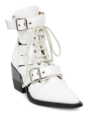 Chloe rylee lace-up leather boots
