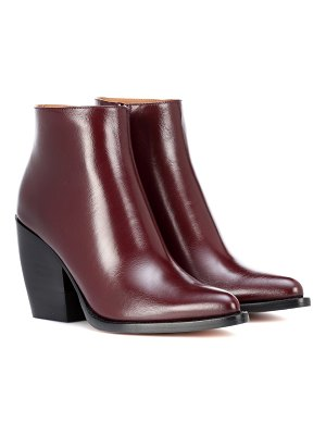 Chloe rylee low leather ankle boots