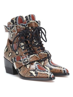 Chloe Rylee printed leather ankle boots