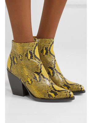 Chloe rylee snake-effect leather ankle boots