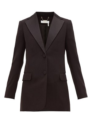 Chloe satin trimmed single breasted crepe blazer
