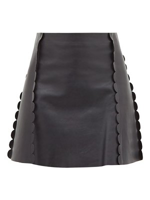Chloe scalloped-trim leather mini skirt