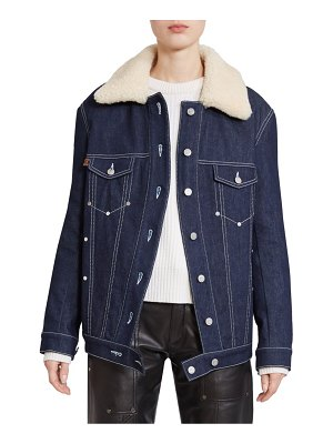 Chloe shearling collar denim jacket