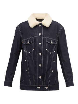 Chloe shearling denim jacket