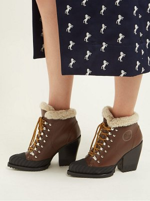 Chloe shearling lined leather ankle boots