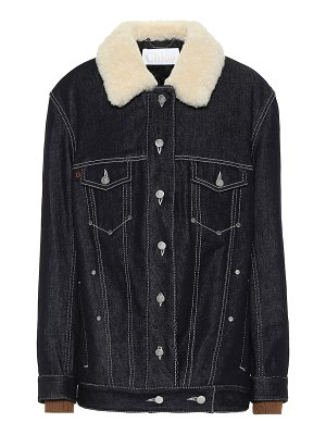 Chloe shearling-trimmed denim jacket