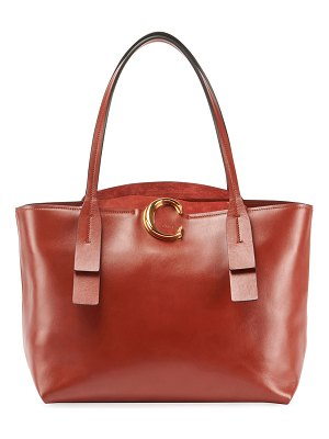 Chloe Shiny Leather Tote Bag