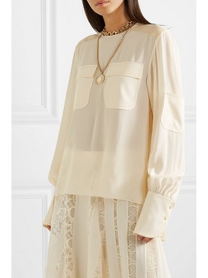Chloe silk crepe de chine top