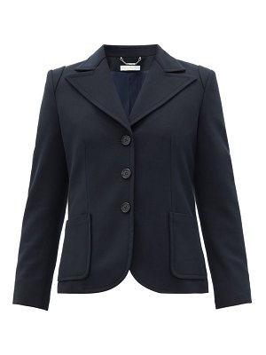 Chloe single-breasted stretch-twill blazer
