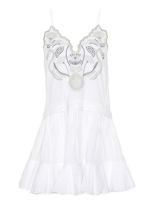 Chloe sleeveless embroidered dress