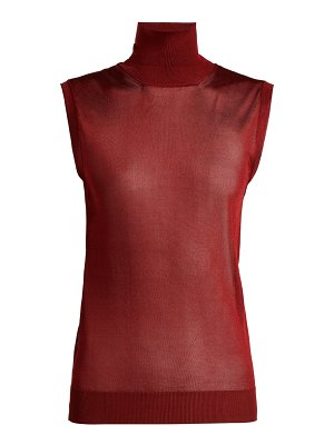 Chloe Sleeveless high-neck top