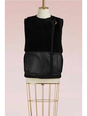 Chloe Sleeveless Shearling Coat