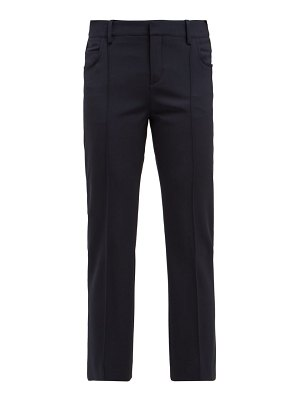 Chloe slim leg wool blend trousers