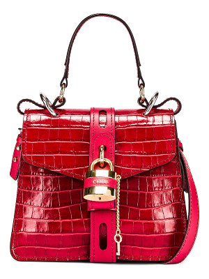 Chloe small aby embossed croc day bag