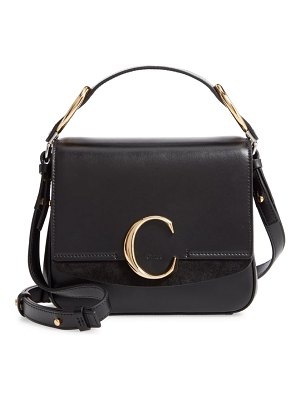 Chloe small c convertible leather bag