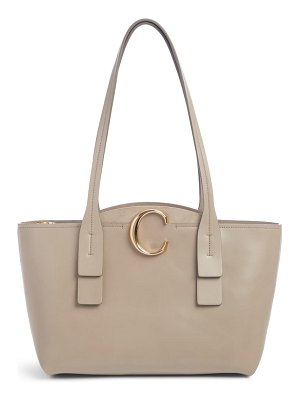 Chloe small c leather tote