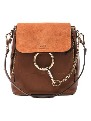 Chloe Small Faye Calfskin & Suede Backpack