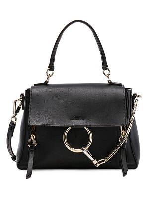 Chloe Small Faye Calfskin & Suede Day Bag