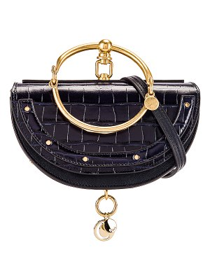 Chloe small nile embossed croco minaudiere