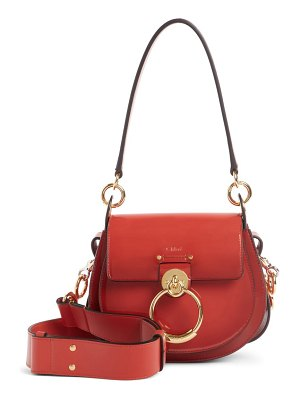 Chloe small tess calfskin leather shoulder bag