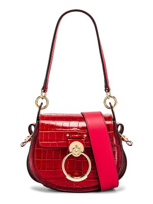 Chloe small tess embossed croco shoulder bag