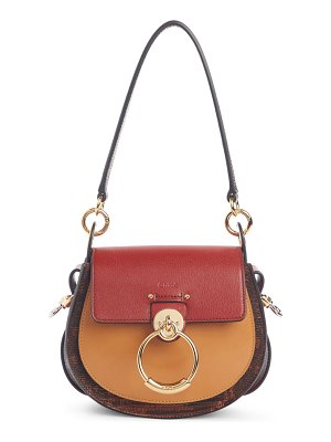 Chloe small tess lizard embossed leather shoulder bag