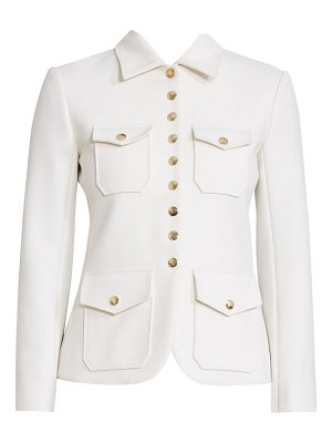 Chloe snap button military jacket