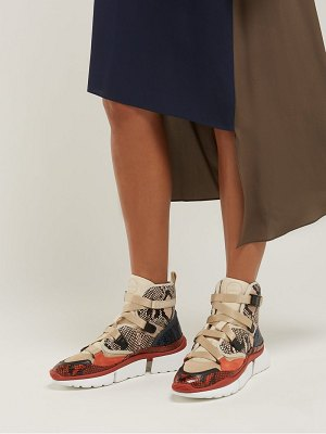 Chloe sonnie raised sole high top trainers