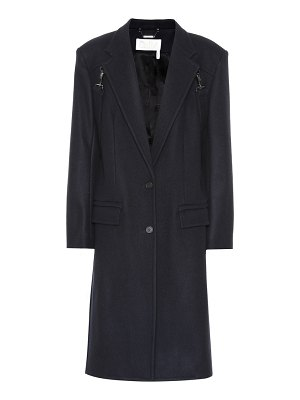 Chloe stretch wool-blend coat