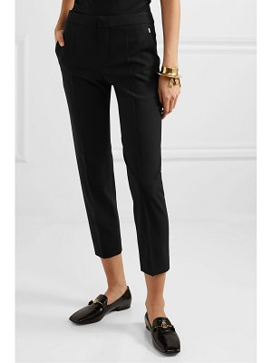 Chloe stretch-wool straight-leg pants