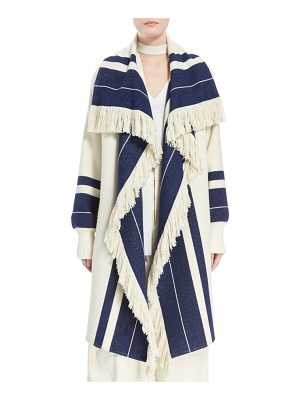 Chloe stripe blanket coat
