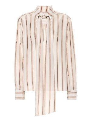 Chloe striped silk satin blouse