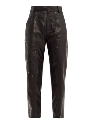 Chloe studded cropped leather trousers