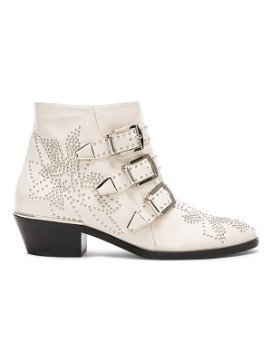 Chloe Susanna Leather Studded Ankle Boots