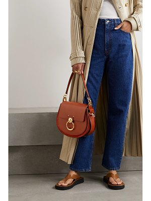 Chloe tess large leather and suede shoulder bag
