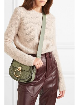 Chloe tess small croc-effect leather shoulder bag