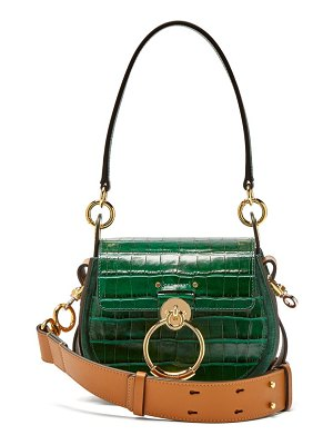 Chloe tess small crocodile effect leather cross body bag