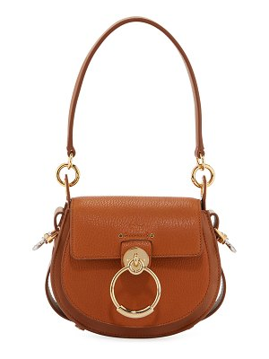Chloe Tess Small Grained Leather Crossbody Bag