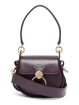 Chloe tess small leather and suede cross body bag
