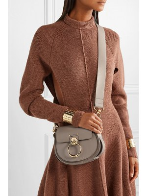 Chloe tess small leather and suede shoulder bag