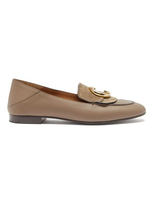 Chloe the c collapsible-heel leather loafers