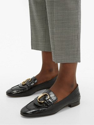 Chloe the c crocodile effect leather loafers