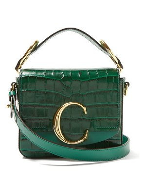 Chloe the c mini crocodile-effect cross-body bag