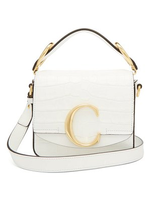 Chloe the c mini crocodile-effect leather cross-body bag