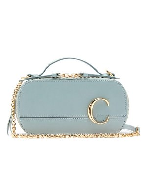 Chloe the c structured leather cross-body bag