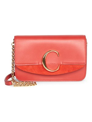 Chloe c leather clutch