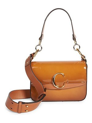Chloe the  patent leather shoulder bag
