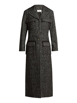 Chloe Tweed Wool Blend Single Breasted Coat