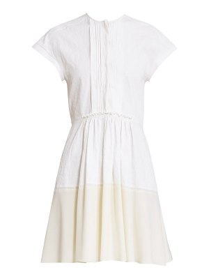 Chloe two-tone linen shirtdress